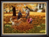 Raking Leaves by Mary G. Smith